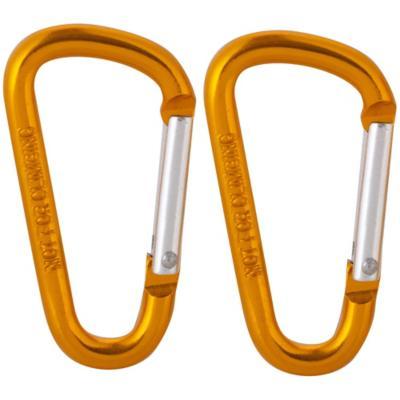 Mosquetón aluminio amarillo 5 x 50mm 2 unidades