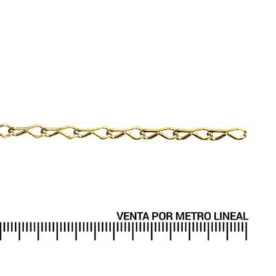Cadena decorativa 1,5 mm metro lineal bronce