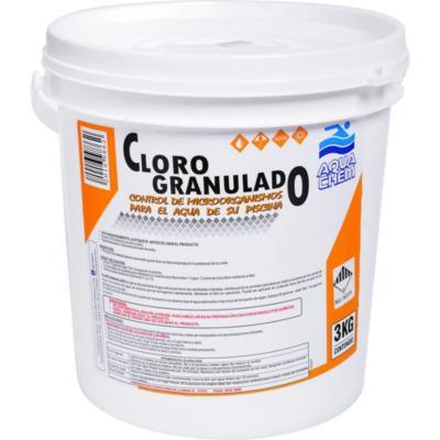 Cloro granulado para piscinas 3 kg tineta