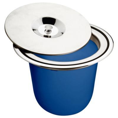 Recogedor de basura de Plástico 8 Lts Azul y Plateado