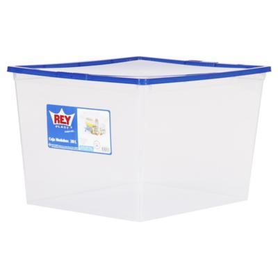 Caja organizadora 30 litros 42x35x27 cm azul