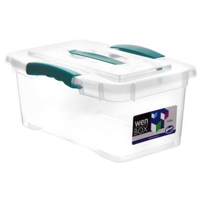 Caja organizadora 6 litros 32x21x14 cm transparente