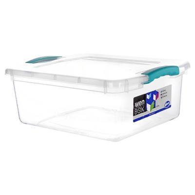 Caja organizadora 15 litros 42x32x16 cm transparente