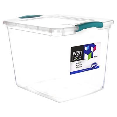 Caja organizadora 28 litros 42x32x31 cm transparente