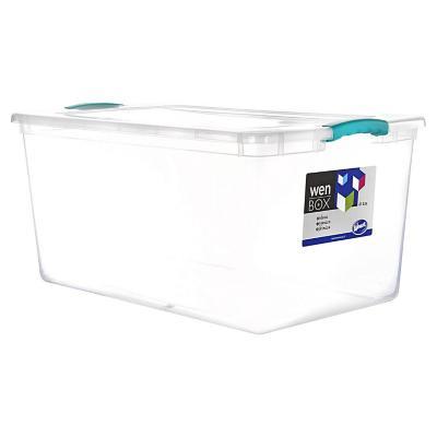 Caja organizadora 61 litros 66x40x31 cm transparente