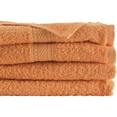 Juego de toallas de baño y mano 360 gr 2 unidades Naranjo