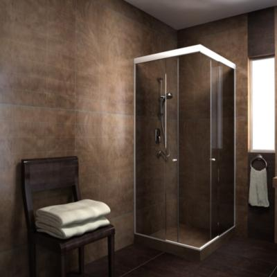 Shower Esquina Vidrio templado Incoloro 90x180cm