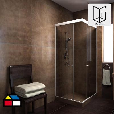Shower Esquina Vidrio templado Listado 90x180cm