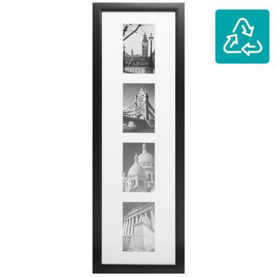 Marco para foto 75x23 cm 4 fotos negro