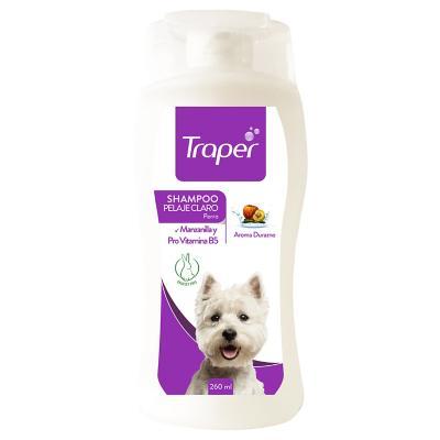 Shampoo para Perro Adulto Pelaje Claro Traper 260 ml