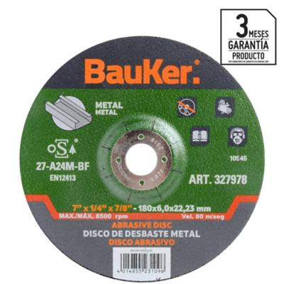 "Disco de desbaste metal 7"" acero"