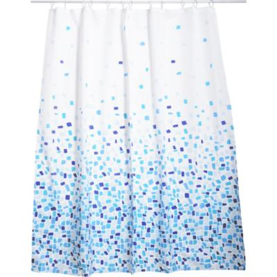 Cortina de baño Costa azul poliéster 180x178 cm