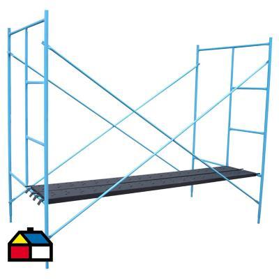 Andamio 2,5x1,2x2 m acero azul