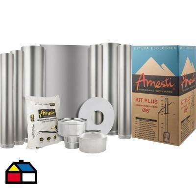 """Kit instalación calefactor 6"""""""