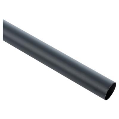 Barra cortina metal 28 mm 2,5 m negro