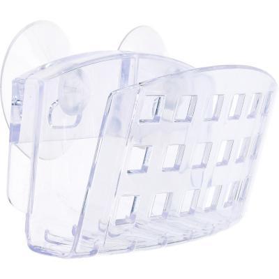 Porta esponja de succión 6x11x4 cm acrílico Transparente