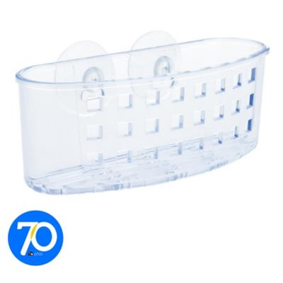Canasto de succión para cocina 6x6,5x18cm acrílico Transparente