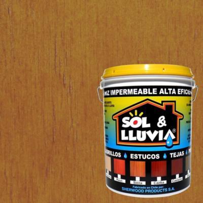 Barniz impermeabilizante semibrillante 1 gl Siena