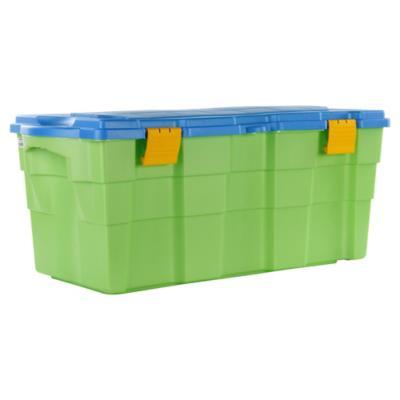 Baúl organizador 100 litros 40x45x94 cm verde/azul