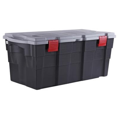 Baúl organizador 100 litros 40x45x94 cm negro/gris
