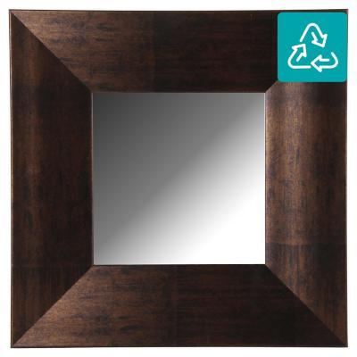 Espejo cuadrado 40x40 cm Chocolate