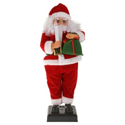 Santa animado con vela 65 cm