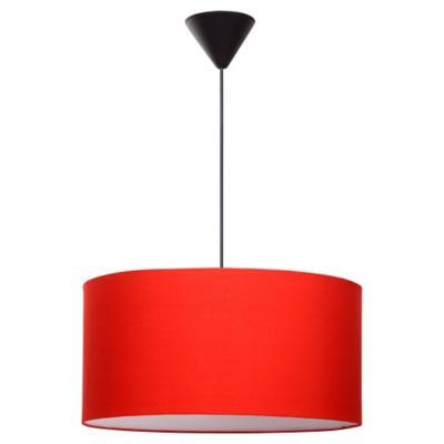 Lámpara de colgar tela Cilindro Roja