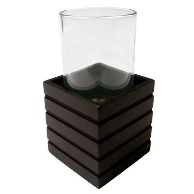 Vaso de baño Bamboo negro