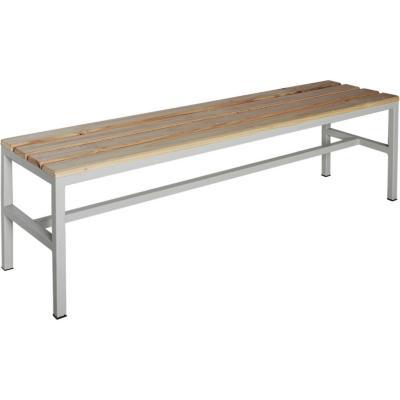 Banca metal-madera simple 40x50x200 cm