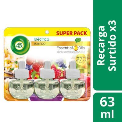Set de recargas para aromatizante eléctrico 3 unidades