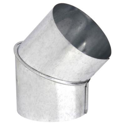 """Curva para tubo acero galvanizado 5"""" 45º 0,8mm"""