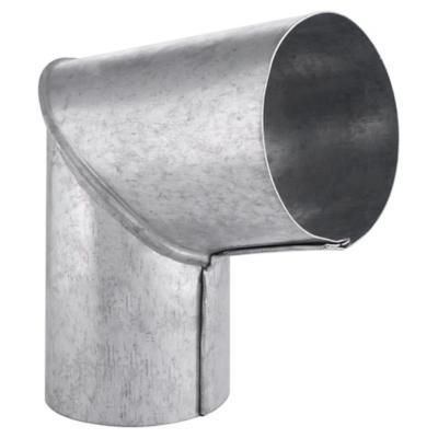"Codo para tubo acero galvanizado 3-1/2"" 90º 0,8mm"