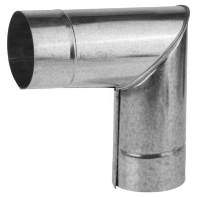 "Codo para tubo acero galvanizado 4"" 90º 0,8mm"