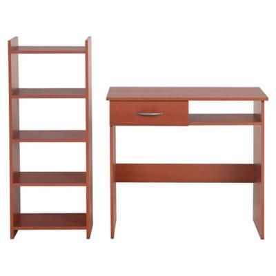Combo escritorio + estante cedro