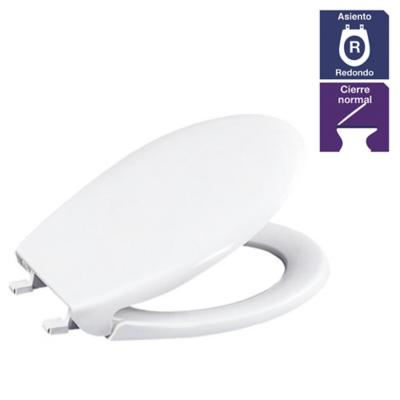 Asiento Aero para WC redondo blanco