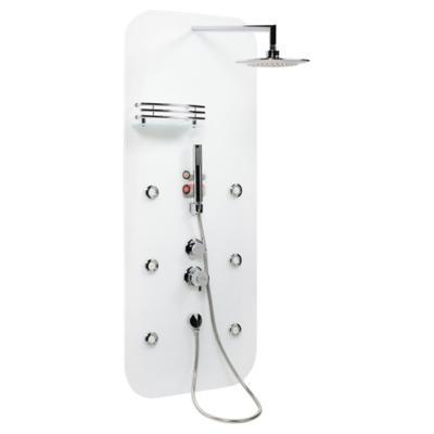 Panel de ducha 135x60 cm rectangular blanco