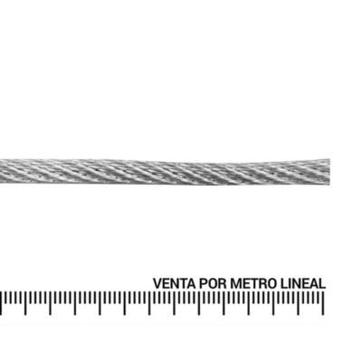 Cable de acero forro PVC 1/4'' metro lineal