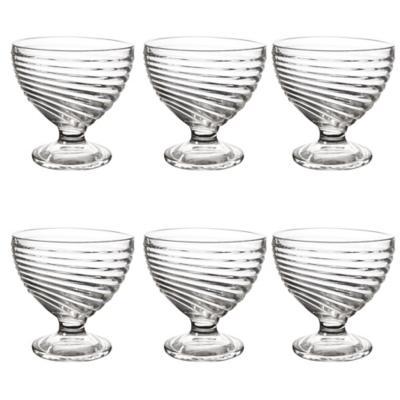 Set de copas para postre vidrio 6 unidades