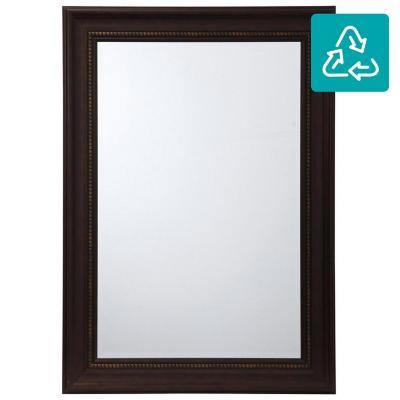 Espejo rectangular 108x78 cm café