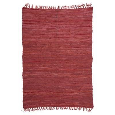 Bajada de cama chindi 60x90 cm rojo