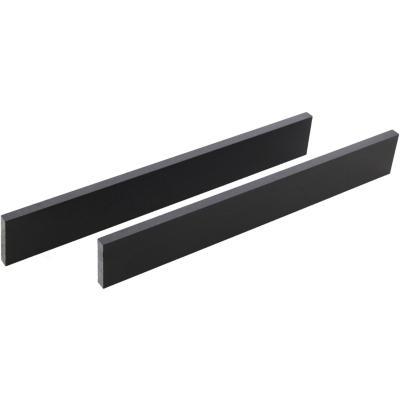 Respaldo de granito 68,5x10 cm Negro