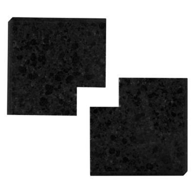 Esquina de granito 7,8x7,8x3 cm negro