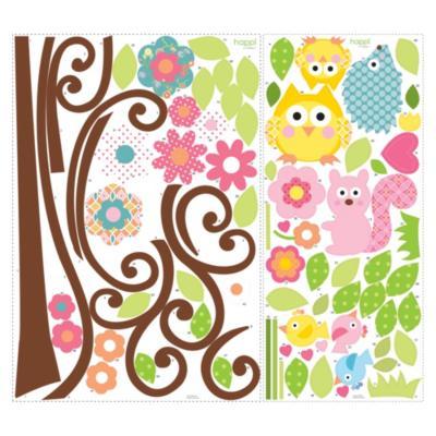 Sticker decorativo árbol 80 unidades