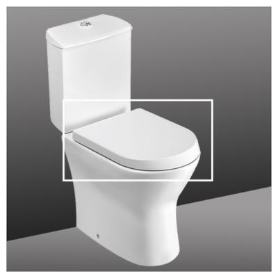 Tapa wc elengado acero blanco