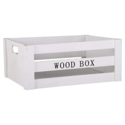 Caja decorativa 15,3x37,5 cm madera blanco