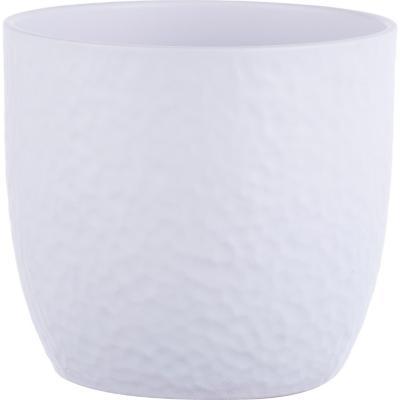 Macetero de cerámica 14 cm blanco
