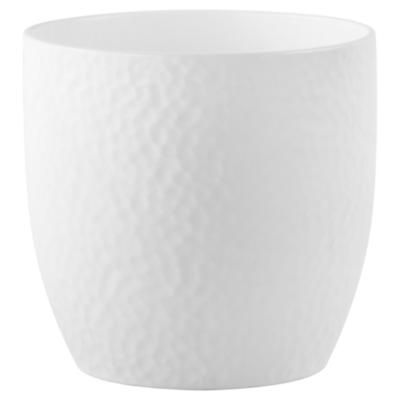 Macetero de cerámica 19 cm blanco