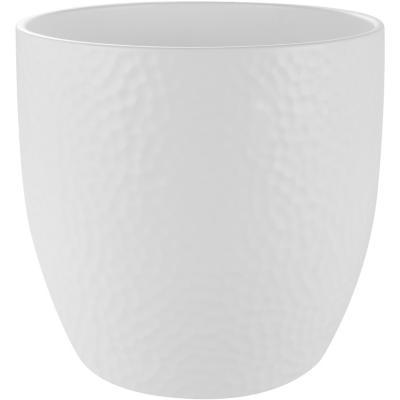 Macetero de cerámica 24 cm blanco