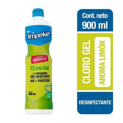 Cloro gel 900 ml botella aroma limón