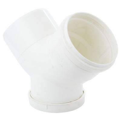 Codo PVC con goma 40 mm